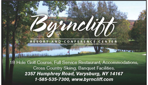 Byrncliff Golf Open – Two-Person Team Scramble for Men and Women Golfers – August 19 – Varysburg NY. $50 per person includes green fee, cart and lunch at the turn.