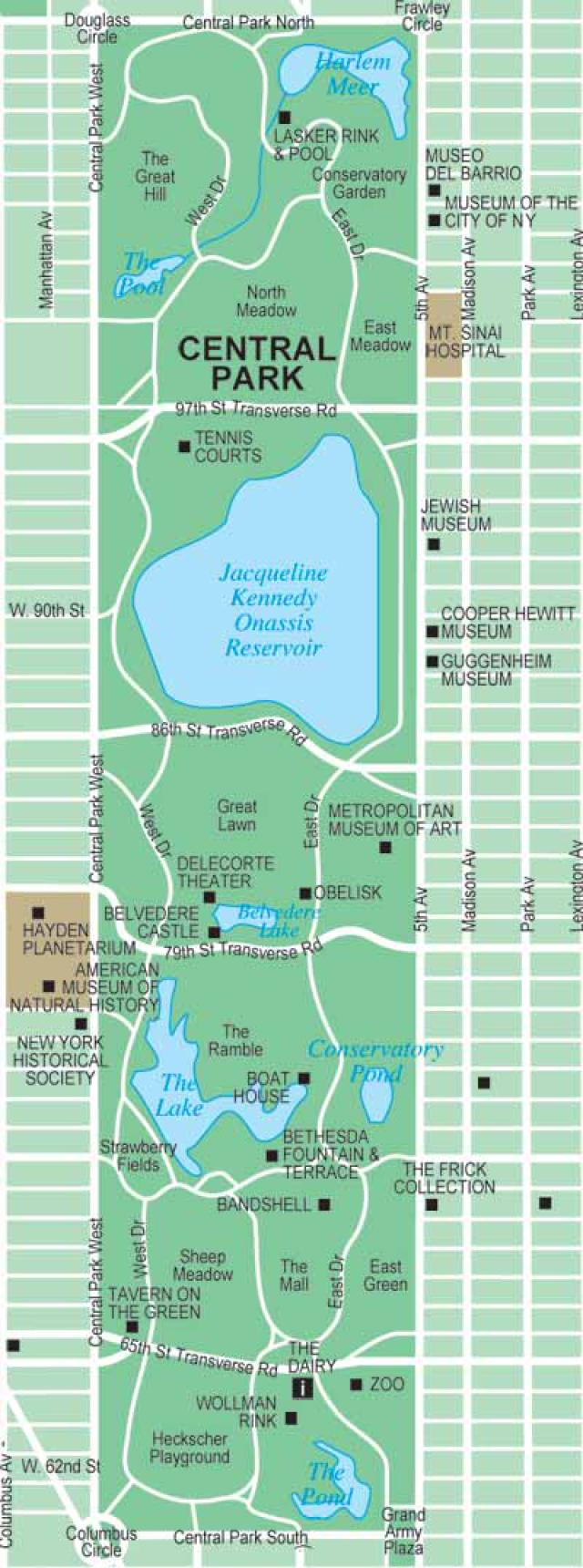 Central Park Maps New York City