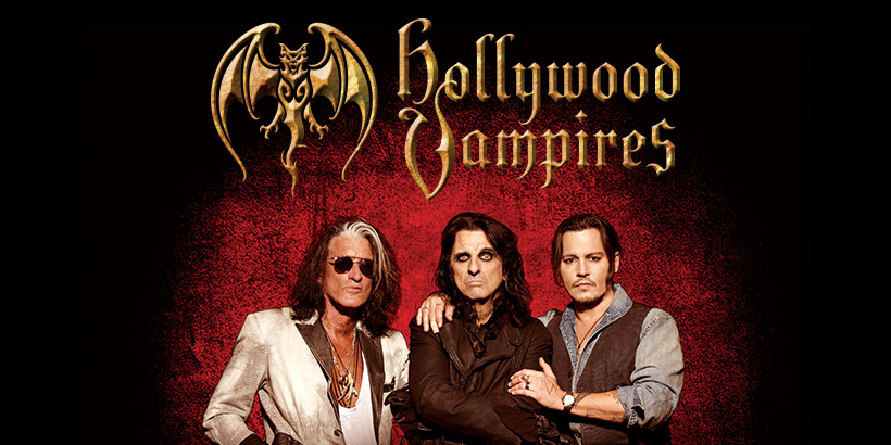 hollywood vampires johnny depp joe perry and alice cooper. Black Bedroom Furniture Sets. Home Design Ideas