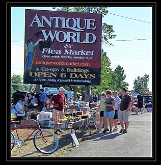 Antique World Flea Market- Saturdays and Sundays – April 1 through October 31, 2017- Clarence NY