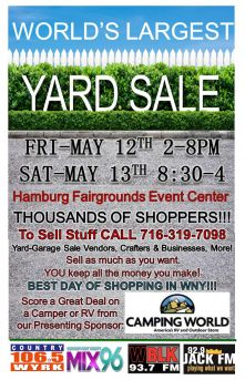 World\'s Largest Yard Sale- Hamburg Fairgrounds- May 12-13, 2017 ...