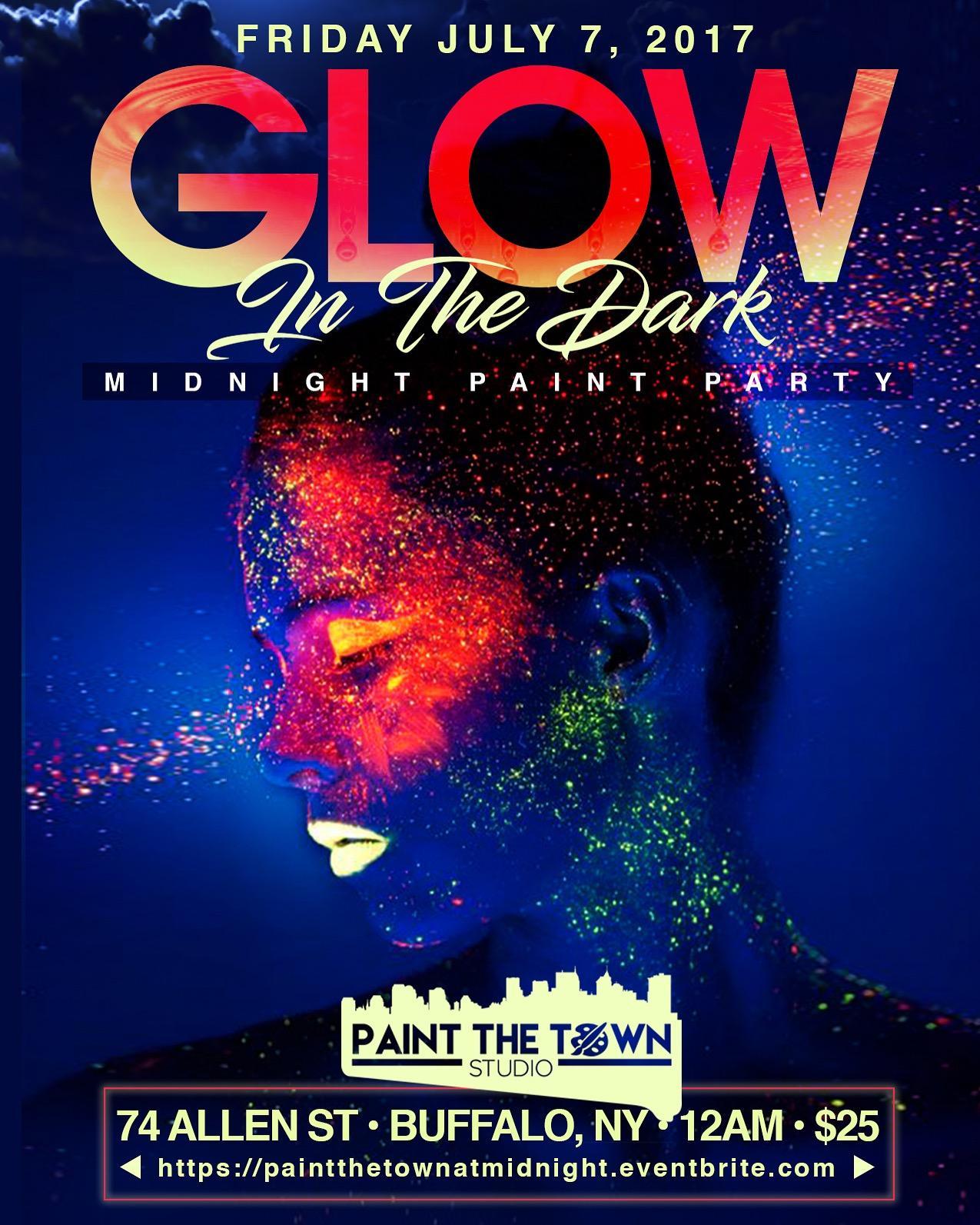 Glow In The Dark Midnight Paint Party July 7 2017 Buffalo Ny