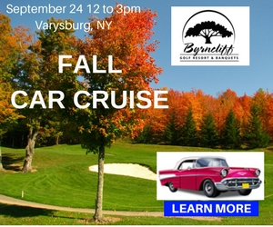 Byrncliff Resort Fall Car Cruise- September 24, 2017- Noon to 3pm- Varysburg, NY