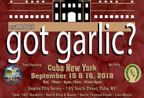 Cuba Garlic Festival September 15 16 2018 Cuba Ny