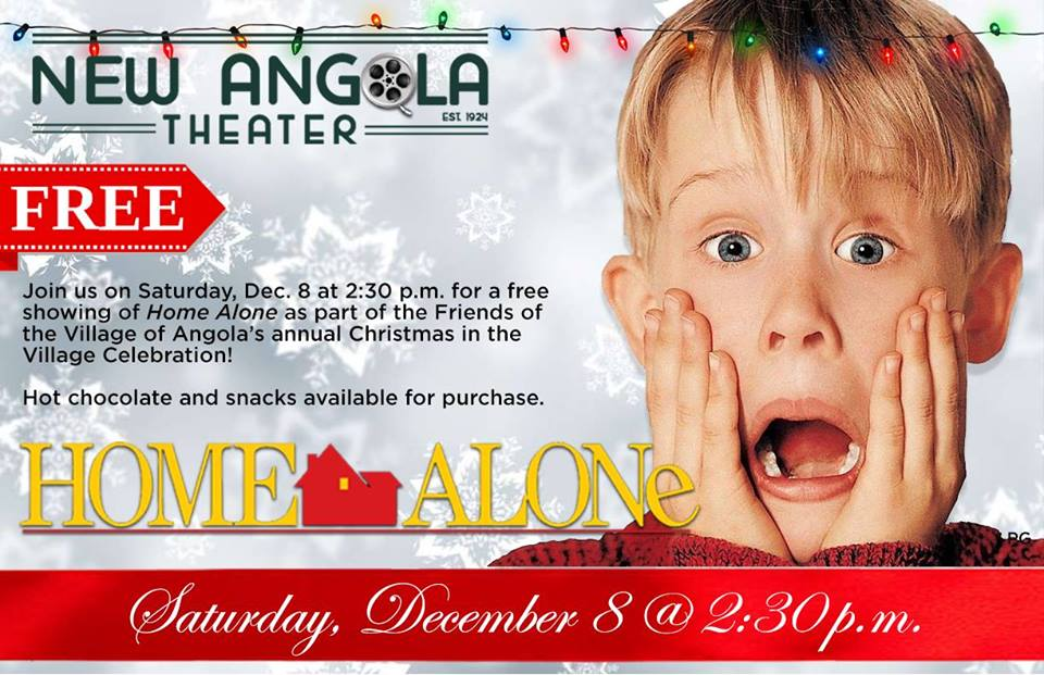 Free Holiday Movie Home Alone New Angola Theater December 8 2018