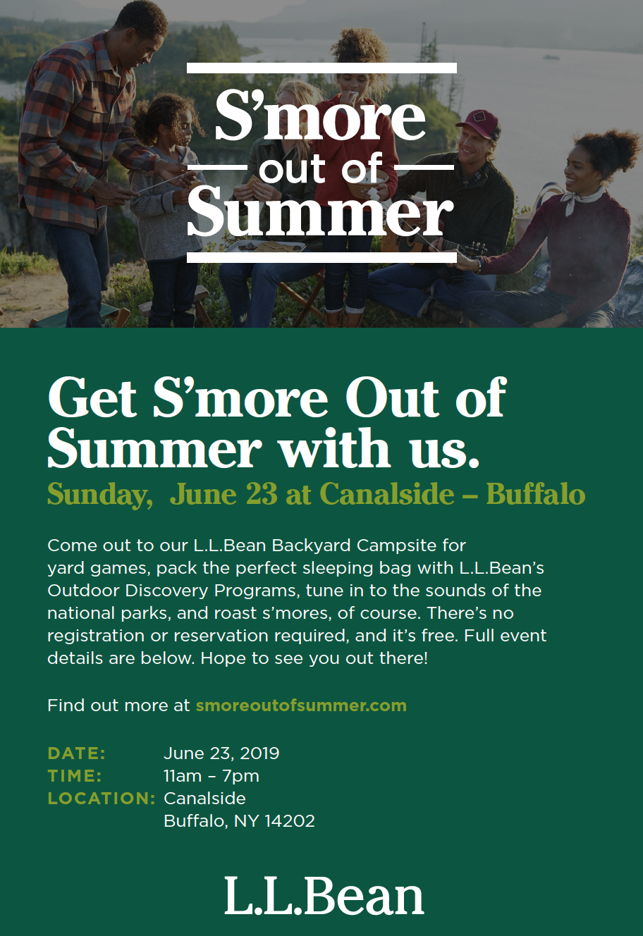 FREE- S'more out of Summer at Canalside- June 23, 2019- Buffalo, NY |  BoredomMD.com