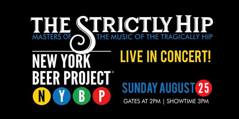 Strictly Hip at New York Beer Project- August 25, 2019