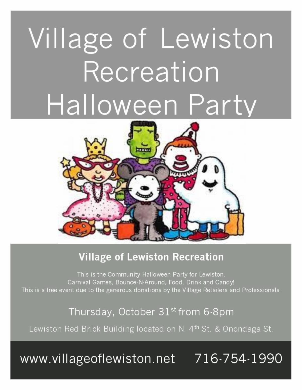 Halloween 2020 Lewiston Ny Lewiston Recreation Halloween Party – October 31, 2019  Lewiston